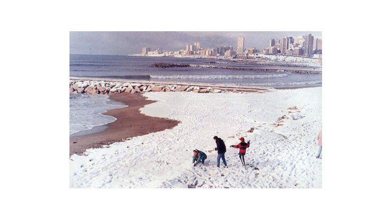 Pronostican nevadas para este jueves y viernes en Mar del Plata