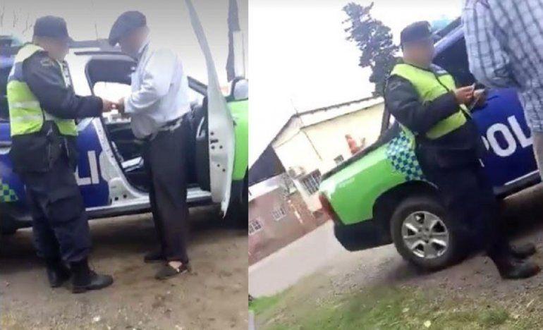 Video: escrachan a policías bonaerenses por pedir una coima