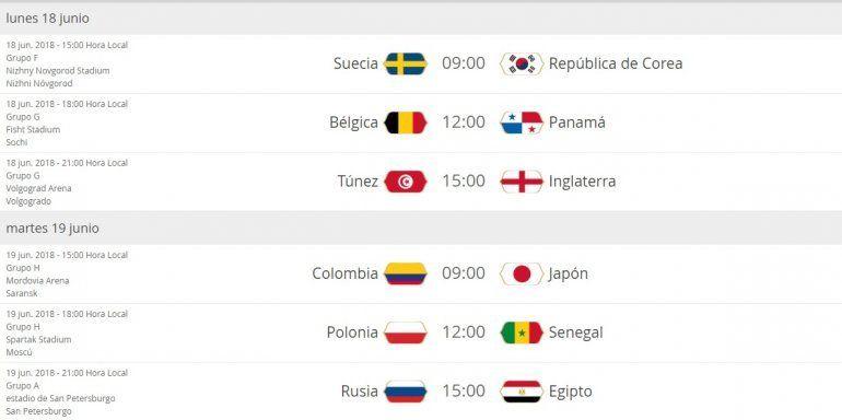 Días y horas de los partidos de Argentina en el Mundial Rusia 2018