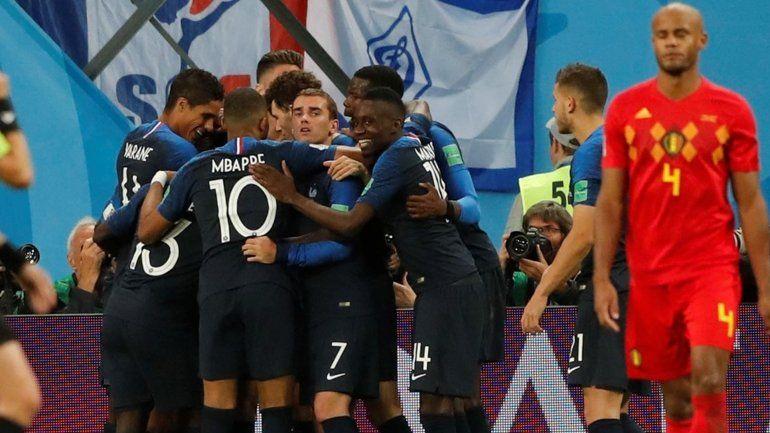 El primer finalista: Francia le ganó a Bélgica y definirá el Mundial ante Inglaterra o Croacia