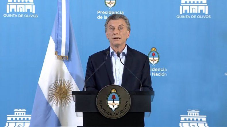"""Macri: """"Estamos afrontando una tormenta"""""""