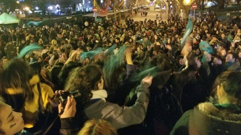 Aborto: el centro de Mar del Plata se tiñó de verde