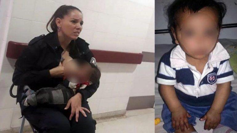 La dura historia del bebé que lloraba de hambre y fue amamantado por la policía