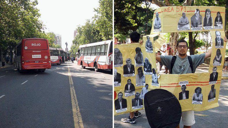 La UTA realizó cortes y protestas antes de la suba del boleto