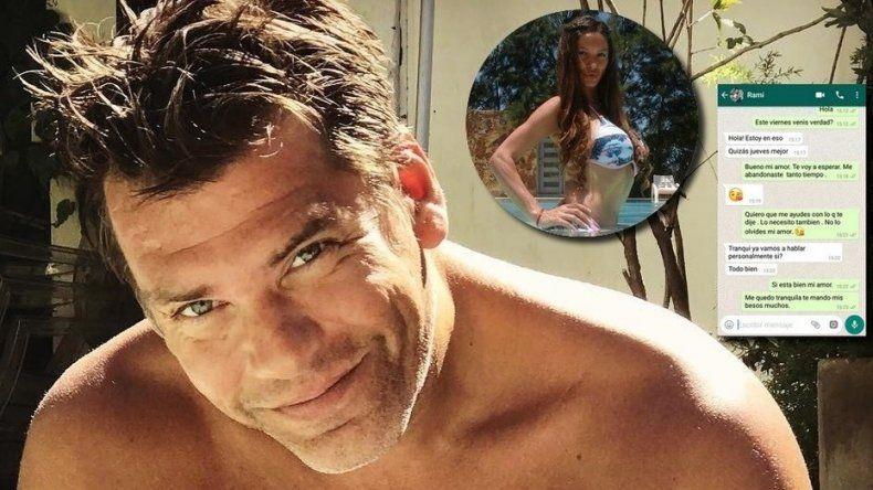Se filtraron nuevos chats del novio de Florencia Peña con su amante