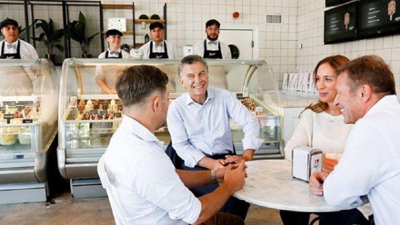 Video: Macri y Vidal visitaron la heladería Lucciano's