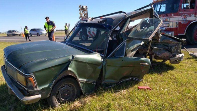 Violento choque en la Ruta 2: un hombre está grave