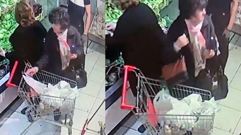 Video: así roba una mujer en una verdulería del barrio La Perla