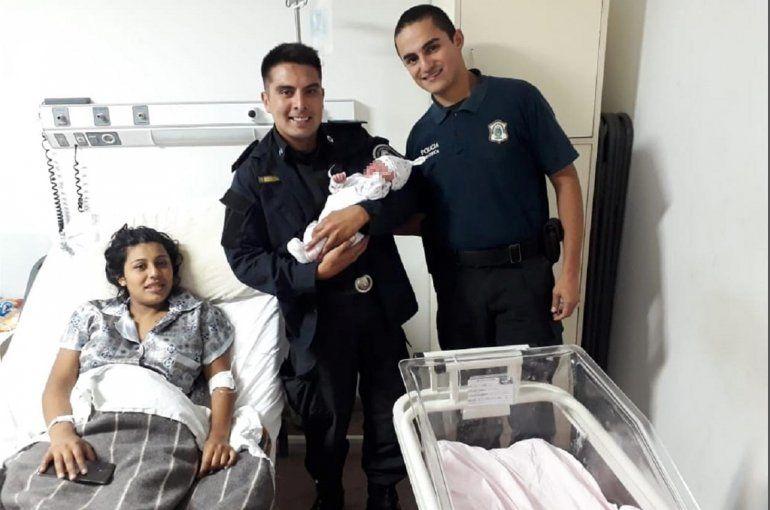 Dos policías ayudaron a una mujer a dar a luz en Mar del Plata