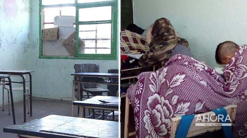 El Consejo Escolar se comprometió a reparar las ventanas de la Escuela N° 33