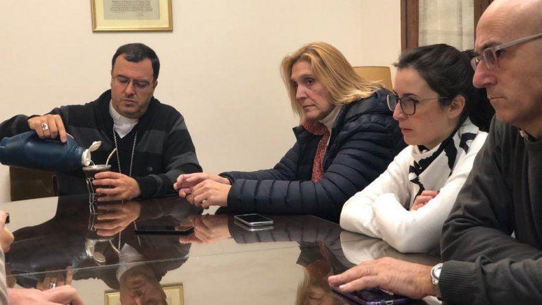 """Baragiola planteó """"la necesidad de ampliar los convenios entre el obispado y el municipio"""""""