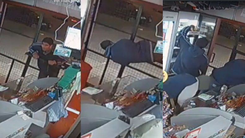 Video: entraron por una diminuta ventanilla y se robaron 100 mil pesos en mercadería