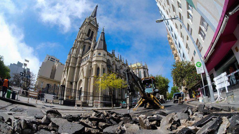 La Municipalidad abrió todos los cruces de la Peatonal