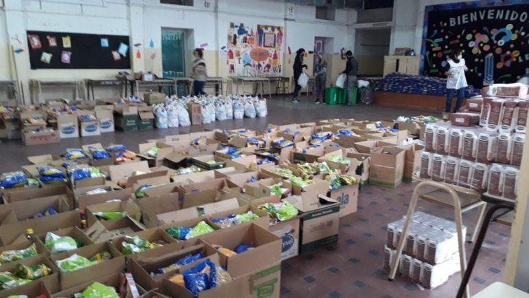 Entregarán 442 bolsones de comida en una escuela marplatense