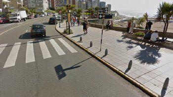 Violento robo a un joven en plena costa marplatense