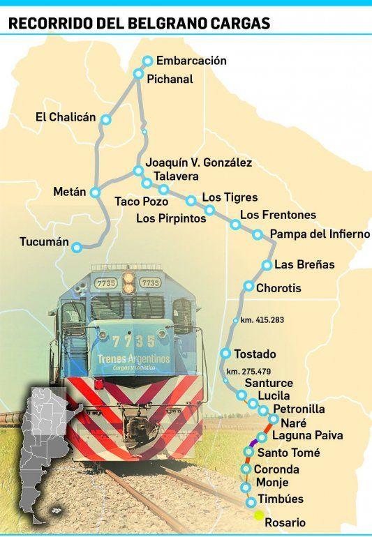 El plan de Nación para multiplicar el transporte de carga por tren