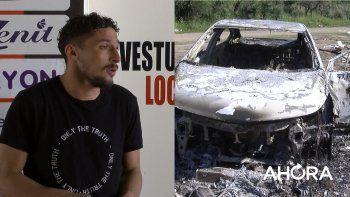 Qué dice la denuncia policial de Lemos tras el incendio de su auto