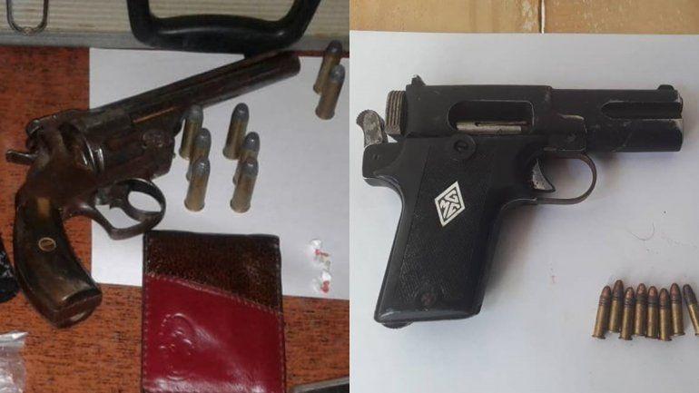 Tres vendedores de droga fueron detenidos: tenían en su poder armas de fuego