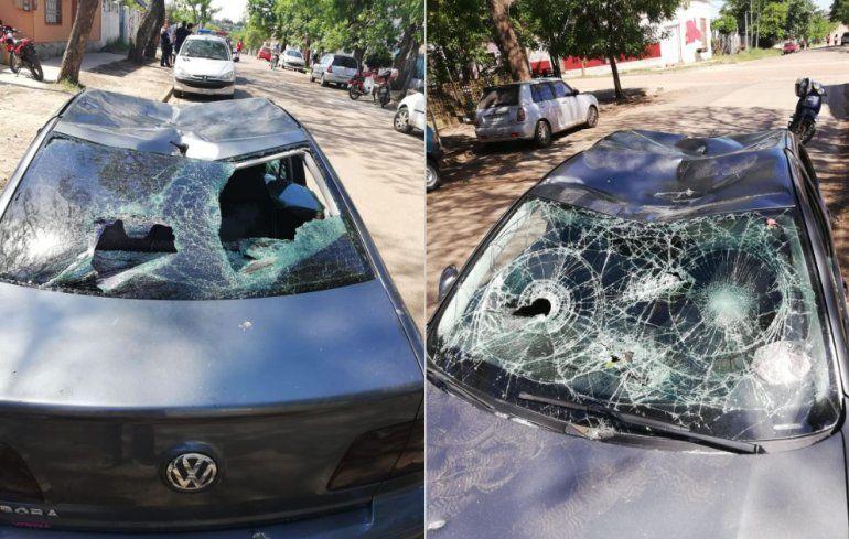 Vio a su ex con un entrerriano y le destrozó el auto por celos