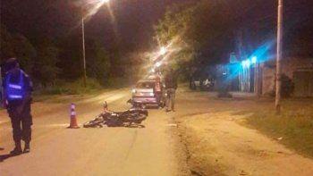 Joven paranaense se quebró tibia y peroné tras chocar con su moto