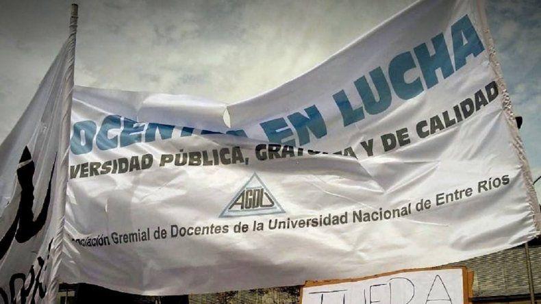 Los docentes universitarios de Entre Ríos van al paro