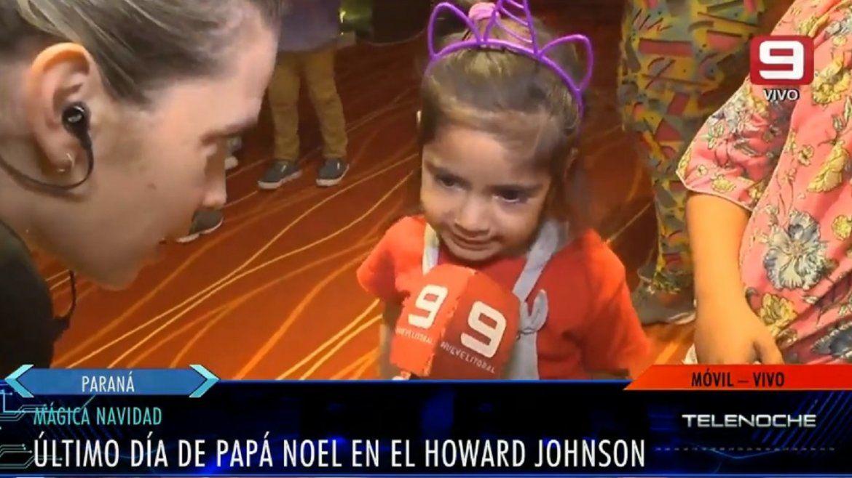 Papá Noel se despidió del hotel Mayorazgo rodeado de niños