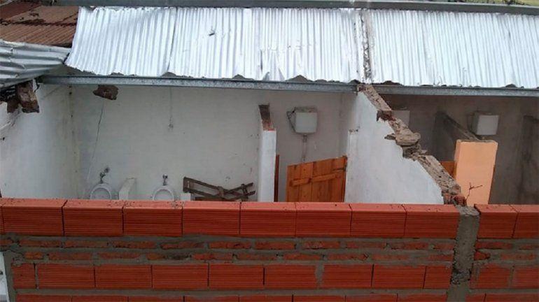 Un fuerte temporal azotó a la zona rural de Diamante: hay lesionados