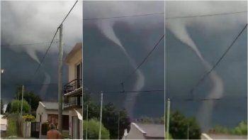 Otra vez filmaron un tornado en Entre Ríos