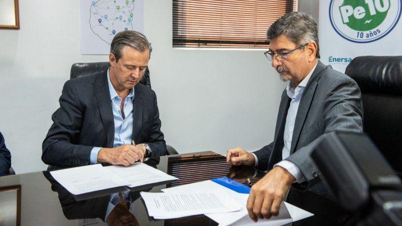 La Municipalidad y Enersa firmaron un acuerdo de colaboración y asistencia mutua