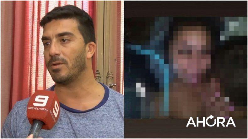 Pareja desnuda con una nena: la pequeña está en una residencia del Copnaf