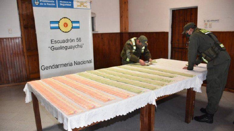 Gendarmería incautó un millón de pesos en Gualeguaychú