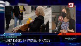 Cifra récord de casos diarios en Paraná: Estamos dentro de lo esperado