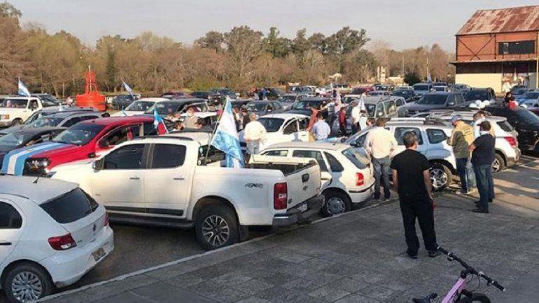 En Gualeguaychú también marcharon contra el Gobierno nacional