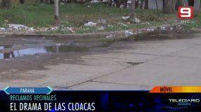 Crecen los reclamos por cloacas rebalsadas: barrio Lomas del Mirador