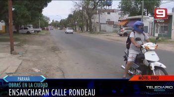 Ensancharán calle Rondeau, entre Don Bosco y Churruarín