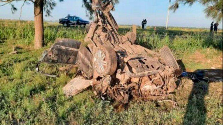 Tragedia en Santa Fe: cuatro adolescentes murieron tras volcar un auto en la ruta