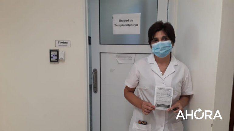 Primera persona vacunada en Paraná: Es una luz de esperanza para mí