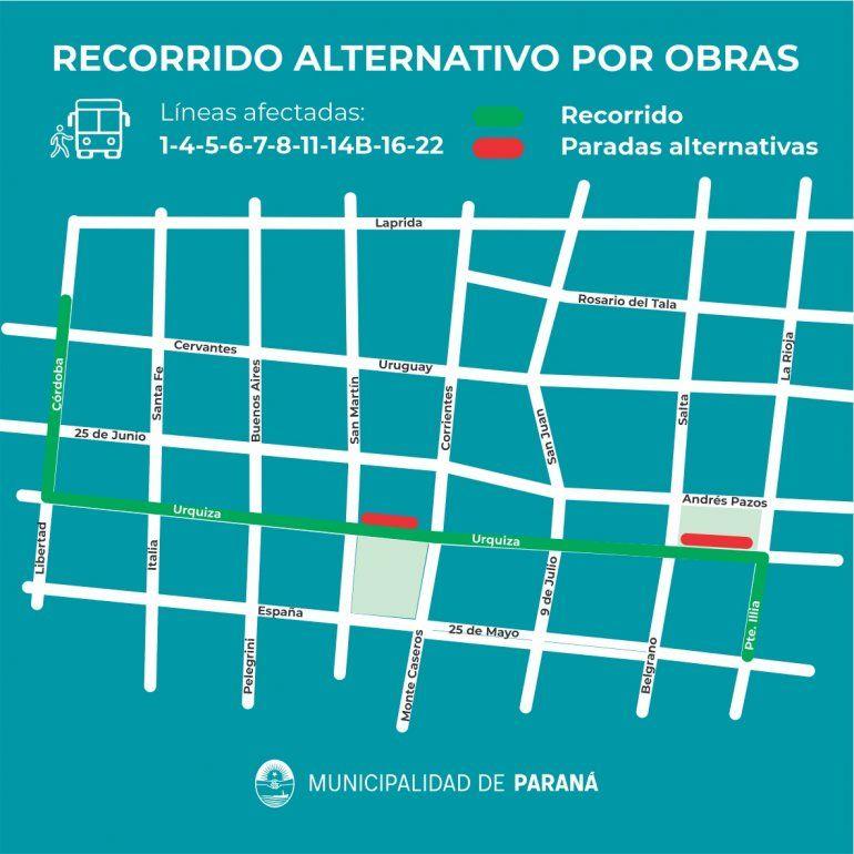 Durante un mes y medio, habrá un importante corte de calles en el centro de Paraná
