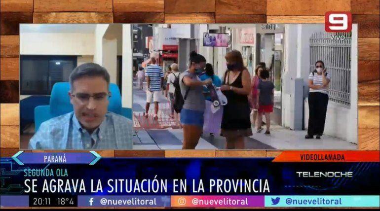 Coronavirus en Entre Ríos: Lo que nos preocupa es la rapidez de los contagios