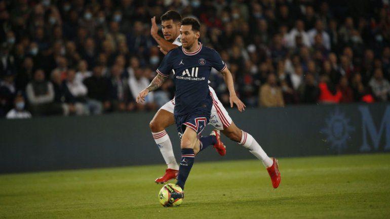Messi salió en el segundo tiempo en la victoria del PSG ante Lyon
